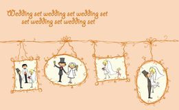 Цedding pictures hanging, vector Stock Photography
