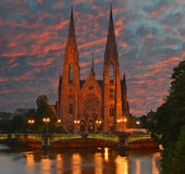 �glise Saint-Paul in Strasbourg Royalty Free Stock Image