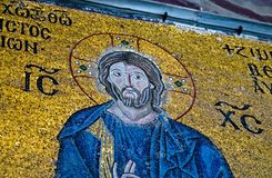 Ícone bizantino Jesus Christ Hagia Sophia Architecture foto de stock royalty free