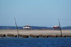 The île aux Oiseaux in Arcachon bay Stock Photos