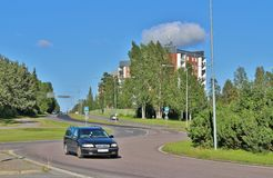 Örnäset in Luleå. Örnäset was built in the 1950s and 60s as a residential area of modernist cuts. The construction of both Örnäset and Stock Images