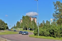 Örnäset in Luleå. Örnäset was built in the 1950s and 60s as a residential area of modernist cuts. The construction of both Örnäset and Stock Photo