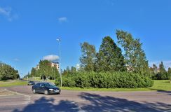 Örnäset in Luleå. Örnäset was built in the 1950s and 60s as a residential area of modernist cuts. The construction of both Örnäset and Royalty Free Stock Photography