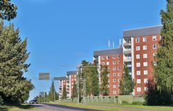 Örnäset in Luleå. Örnäset was built in the 1950s and 60s as a residential area of modernist cuts. The construction of both Örnäset and Royalty Free Stock Image