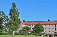 Örnäset in Luleå. Örnäset was built in the 1950s and 60s as a residential area of modernist cuts. The construction of both Örnäset and Royalty Free Stock Photos