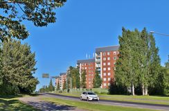 Örnäset in Luleå. Örnäset was built in the 1950s and 60s as a residential area of modernist cuts. The construction of both Örnäset and Royalty Free Stock Images