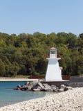 ÃÂ-¹ighthouse på laken Huron Royaltyfri Bild