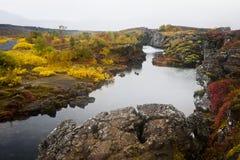 Þingvellir冰岛 免版税库存照片