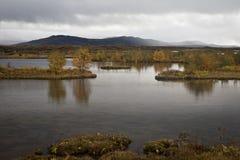 Þingvellir冰岛 图库摄影