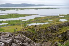 Þingvellir, όπου τα ευρωπαϊκά και αμερικανικά πιάτα συναντιούνται στοκ φωτογραφία με δικαίωμα ελεύθερης χρήσης