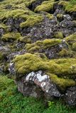 Þingvellir, όπου τα ευρωπαϊκά και αμερικανικά πιάτα συναντιούνται στοκ εικόνες