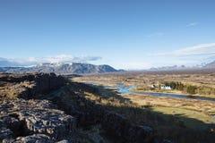 Þingvellir, Исландия Стоковые Фотографии RF