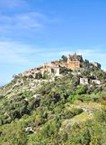 Èze franska Riviera, ` Azur, söder för skjul D av Frankrike Arkivbild