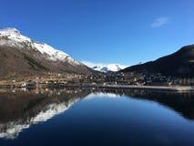 Ørnes,挪威村庄  免版税库存照片