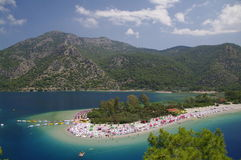 �lüdeniz beach, Turkey Stock Photo