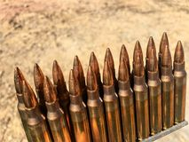 The 5.56×45mm ammo stock images