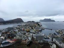 Ã… lesund,挪威城市 免版税库存图片