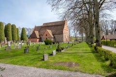 Ã… tvidaberg的,瑞典中世纪教会 免版税库存图片