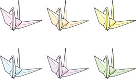 Folded paper crane Stock Photo