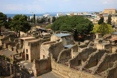 Herculaneum. Herculaneum is famous sight seeing destination in Naples Italy Royalty Free Stock Photo