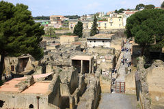 Herculaneum. Herculaneum is famous sight seeing destination in Naples Italy Royalty Free Stock Images