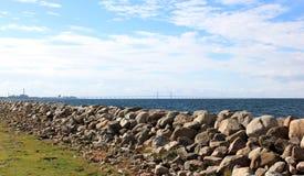 Ã -ã-resund Bron tussen Denemarken en Zweden, Zweden Stock Afbeeldingen