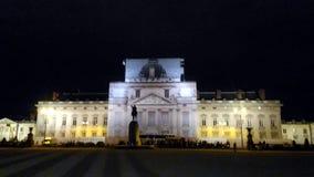 Ã-‰ cole Militaire på natten arkivfoto