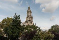 Ã ‰ glise de la Sainte-TrinitA©领港教会在巴黎在10月下旬 免版税库存图片