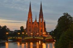 Ã-‰ glise St Paul i Strasbourg royaltyfri fotografi