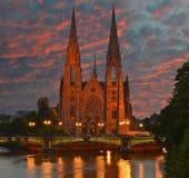 Ã-‰ glise St Paul in Straßburg Lizenzfreies Stockbild