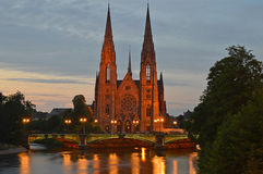 Ã-‰ glise St Paul in Straßburg Lizenzfreie Stockfotografie