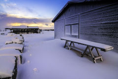 Þingvellir Nationaal die Park (soms als Pingvellir of Thingvellir wordt gespeld), IJsland Stock Afbeelding