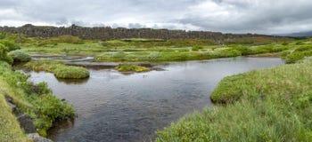 Þingvellir nationalpark, Island Royaltyfri Bild