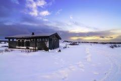 Þingvellir nationalpark (som stavas ibland som Pingvellir eller Thingvellir), Island Arkivfoton