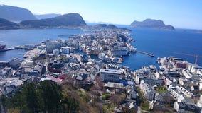 Ã-… lesund Norge Royaltyfri Foto