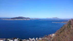 Ã-… lesund - Valderøya - Vigra Norge Royaltyfria Foton