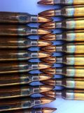 The 5.56×45mm ammo. The colorful of ammo 5.56 mm Stock Images