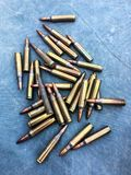 The 5.56×45mm ammo. The colorful of ammo 5.56 mm Royalty Free Stock Image