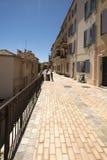 1ère Rue du Barri,戛纳,法国 免版税库存照片
