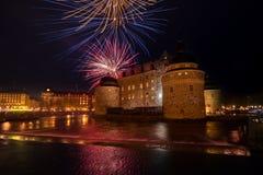 "Ã-rebro,瑞典†""2018年4月30日:沃普尔吉斯之夜的庆祝 库存照片"