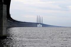 Ã-resund Bron entre Dinamarca y Suecia, Suecia imagenes de archivo