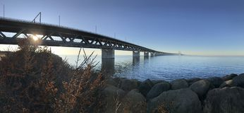 Ã-resundbrücke Malmö Kopenhagen Lizenzfreies Stockfoto
