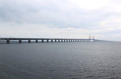 Ã-resundsbron mellan Sverige och Danmark, Sverige Royaltyfria Bilder