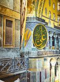 Ã 'skeppet av den Hagia Sophia moskén Istanbul Turkiet royaltyfria bilder