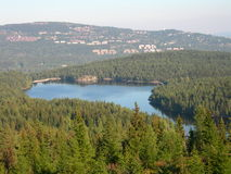 Østernvann. The lake Østernvann in Oslo in Norway stock photo