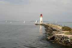 Étang de Thau. Boat trip on the canal du midi Stock Photography