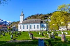 Øystese kyrka fotografering för bildbyråer