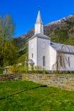 Øystese kyrka royaltyfria foton