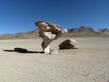 Ãrbol de Piedra, Altiplano, Bolivia Fotografia Stock Libera da Diritti