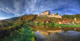 Český Šternberk Castle /Hrad/ - autumn picture stock photo
